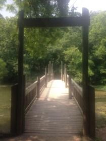 Image of bridge over Lake Springfield at Springfield Nature Center.